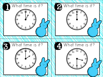 What Time Is It? Clocks to the hour and half hour
