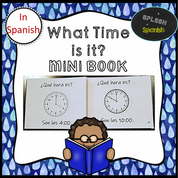 What Time Is It? Mini Book in Spanish