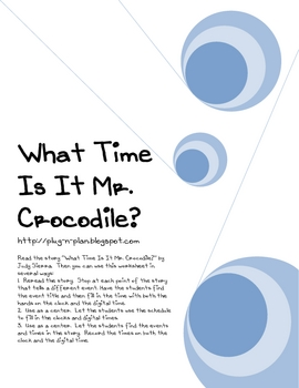 What Time Is It Mr. Crocodile?