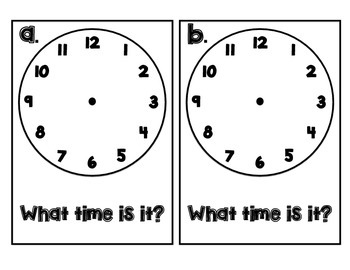 What Time Is It? {Read the Room Activity}