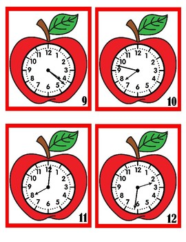 What Time Is It?  Red Apples - 1 Minute Intervals