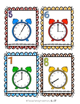 What Time Is It? Scoot for Second Grade