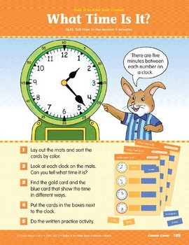 What Time Is It? (Take It to Your Seat Centers Common Core Math)