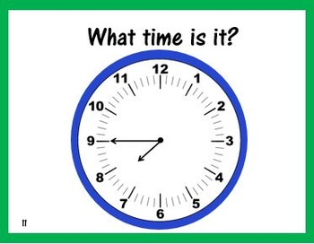 Telling Time Using an Analog Clock Task Cards
