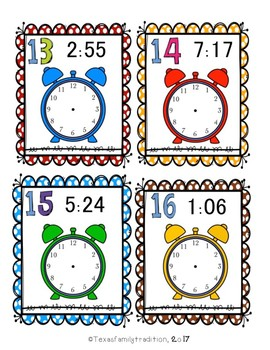 What Time Is It? Task Cards for Second Grade