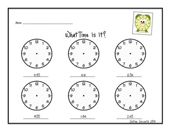 What Time Is It?: Telling TIme to the 5 Minutes