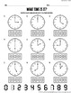 What Time Is It? - Telling Time Worksheet and Card Package