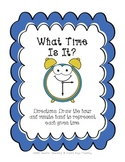 What Time Is It?  Telling Time to the 5 Minutes from Cuddle Bugs Teaching