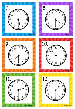 What Time Is It?  Time To Hour And Half Hour
