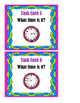 What Time Is It? Time to the Hour, Half Hour, 15 & 45 Minutes After Task Cards