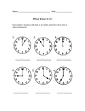 What Time Is It? Worksheet 2