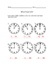 What Time Is It? Worksheet Group