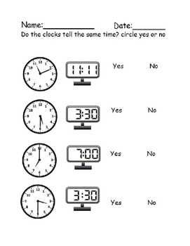 What Time Is It Worksheets