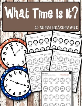 What Time Is It?   Worksheets   Elementary Math