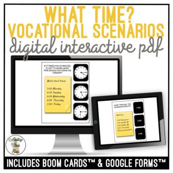 What Time? Vocational Scenarios Digital Activities