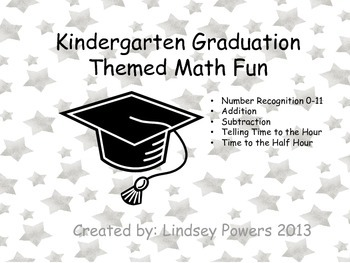 Kindergarten Graduation Themed Math Fun