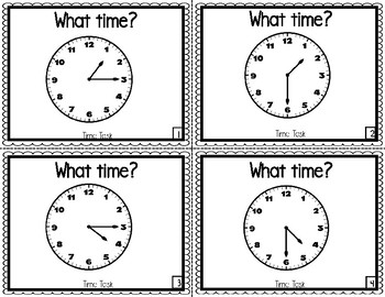 What Time is It?          15 Minute Practice