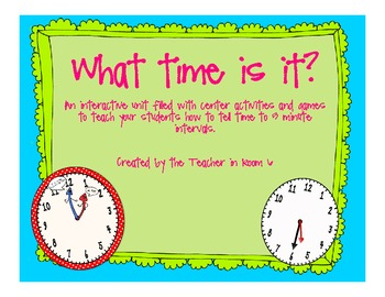 What Time is It? Activities for time to 5 minutes
