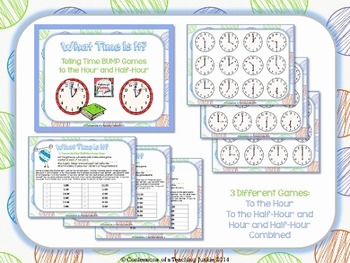 What Time is It? BUMP Game for Math Centers or Fast Finishers