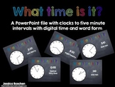 What Time is It?  Powerpoint with Five-Minute Intervals