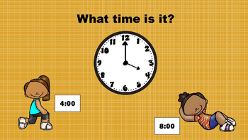 PowerPoint brain break- What Time is It? Math (time to the hour)