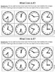 What Time is It? Word Problems: Match, Cut, and Paste Activity