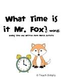 Analog Time & Word Phrase Match