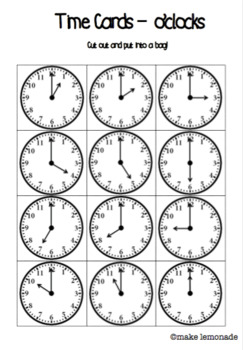 What Time is it Mr Wolf? - A fun game to practice telling time!