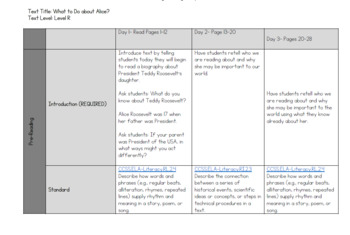 What To Do About Alice (Level R) Guided Reading Lesson Plan