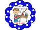 What To Do Next Bilingual Chart-Polka Dot Theme (Blue)