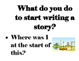What To Do When I Start a Story