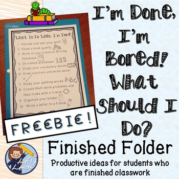 """What To Do When I'm Done """"Finished Folder"""""""