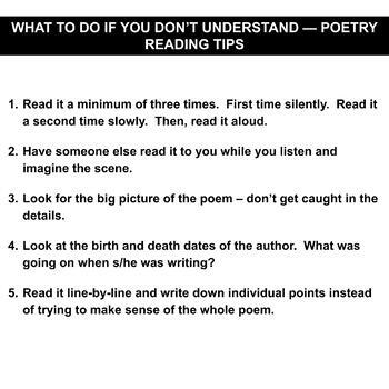 What To Do When You Dont Understand A Poem 20 Tips Tricks For