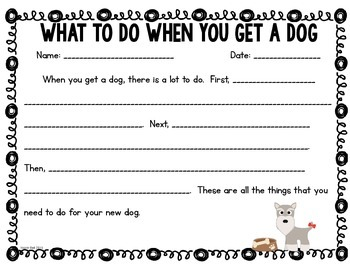 What To Do When You Get a Dog Writing Frame! FREEBIE!