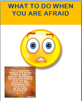 """Problem Solving-""""What To Do When You are Afraid""""-lesson an"""