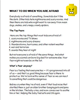 """""""What To Do When You are Afraid""""-lesson, 2 activities"""