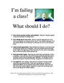 """What To Do When You're Failing"" Handout"