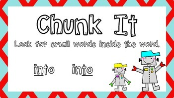 What To Do When You're Stuck On a Word Reading Poster Robot Themed
