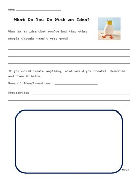 What To Do With An Idea Worksheet