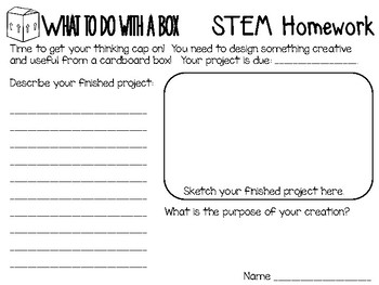 What To Do With a Box: Picture Book Engineering Design Challenge ~ STEM