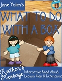 What To Do With a Box by Jane Yolen--Author's Message Read Aloud Lesson Plan