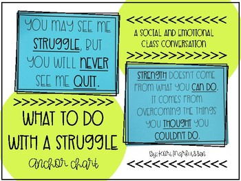 What To Do With a Struggle - Anchor Chart