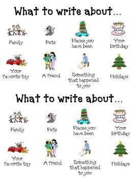 What To Write About... Writing Folder Chart