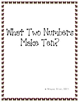 What Two Numbers Make Ten?
