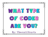 What Type of Coder Are You? Rubric Freebie