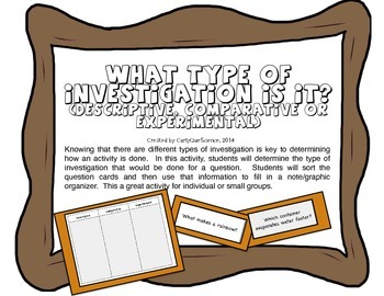 What Type of Investigation Is It? (Descriptive, Comparative or Experiemental)
