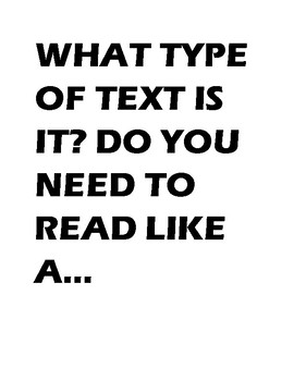 What Type of Text Is It?
