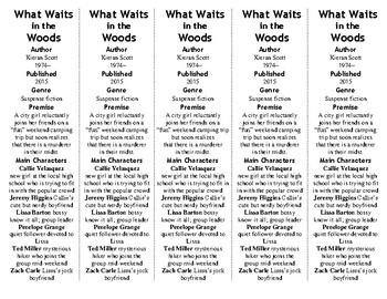 What Waits in the Woods ed. of Bookmarks Plus—Fun Freebie & Handy Reading Aid!