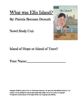 What Was Ellis Island Novel Study