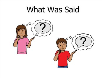 What Was Said (Sight Word Story Book to support Reading Street K)